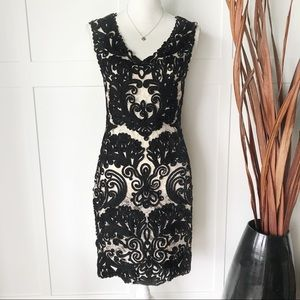 Yoana Baraschi Ribbon and Lace Little Black Dress